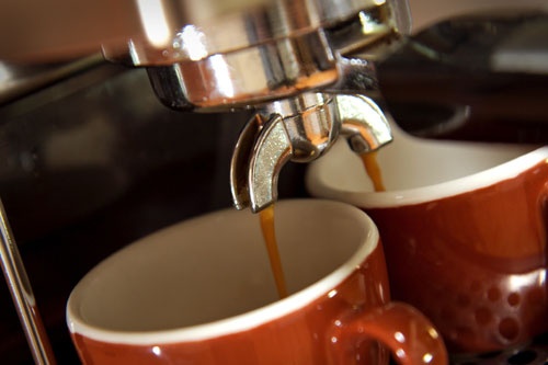 image of coffee cup and machine