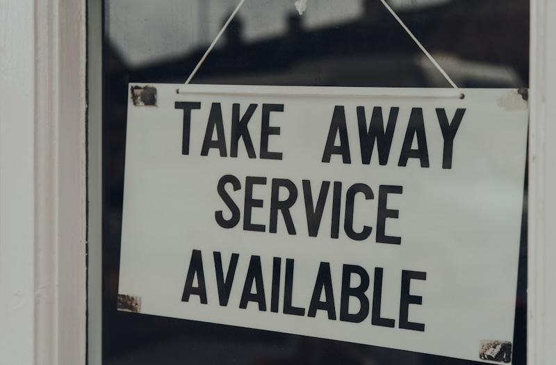 Take away food service
