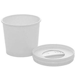 125ml Spoon In Lid Wax Paper Ice Cream Tubs