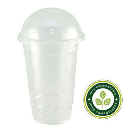 16oz PLA Smoothie Cups & Domed Lids