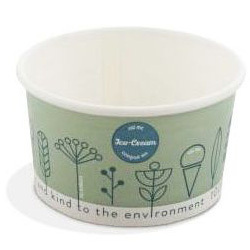 Compostable Tas-ty Ice Cream Tubs 1 Scoop