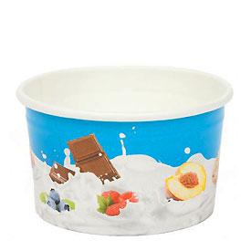 100ml TAS-ty Wax paper Ice cream Tubs
