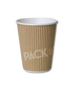 12 oz Kraft Brown Ripple Cups