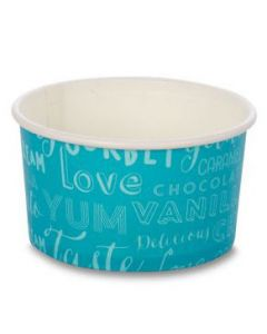 160ml Melody Two Scoop Wax Paper Ice Cream Tubs