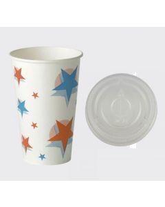 22oz Starball Paper Cups & Flat Lids