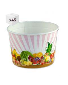 230ml SDG Generic Wax Paper Ice Cream Tubs