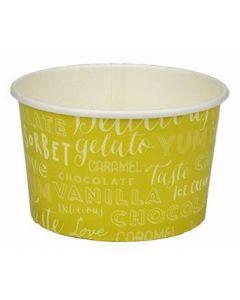 260ml Melody 3 Scoop Wax Paper Ice Cream Tub