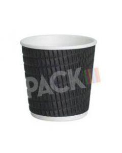 4 Oz Black Espresso Ripple Cups