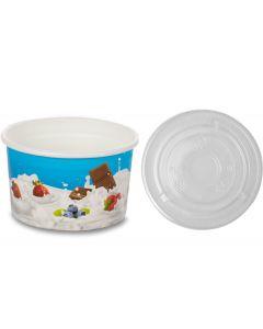 500ml Tas-ty Ice Cream Tubs With Flat Lid