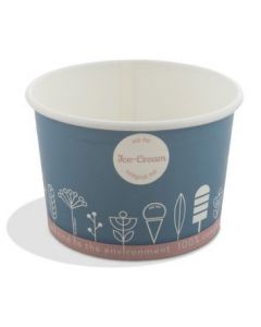 Compostable Tas-ty Ice Cream Tubs 3 Scoop
