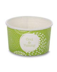 Huhtamaki 2 Scoop Wax Paper Ice Cream Tubs