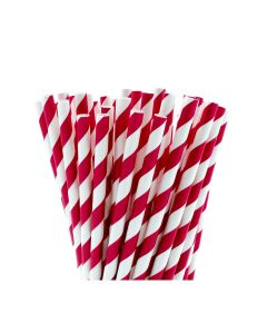Red & white stripped paper straws