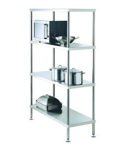 17 Adjustable 4 Tier Shelving 900 W x 525 D x 1800 H mm (29KG)