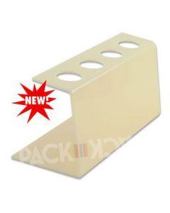 Tall Cream Plastic-Ice Cream Cone Holder (4Holes)