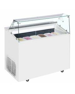 Scoop Ice Cream Display White 6 Pan - TOP6E