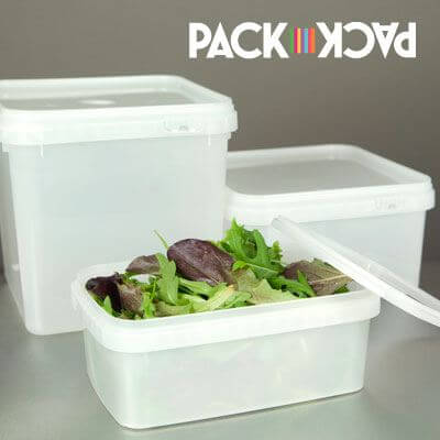 range of food grade storage containers in many sizes and quantities