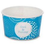Huhtamaki ice cream tubs blue 1 scoop