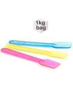 1 KG Bag x 9.5cm Fluorescent Plastic Spade Ice Cream Spoons