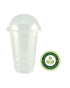 12oz PLA Smoothie Cups & Domed Lids
