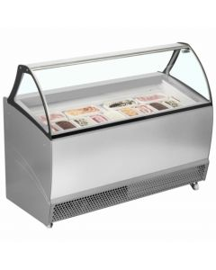 Ventilated Scoop Ice Cream Display RV10 Grey