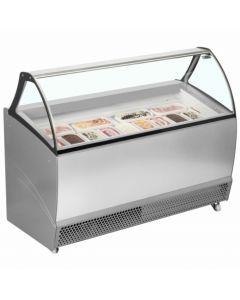 Ventilated Scoop Ice Cream Display RV13 Grey
