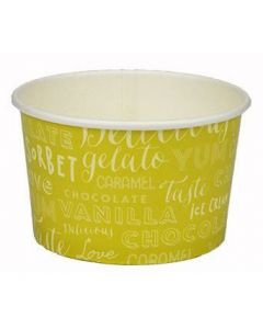 260ml Melody 3 Scoop Wax Paper Ice Cream Tub