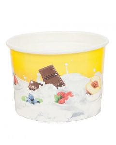 280ml Tas-ty Wax Paper Ice Cream Tub With Domed Lid X 1000