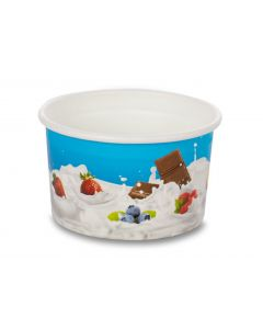 500ml Tas-ty Wax paper Ice cream Tub