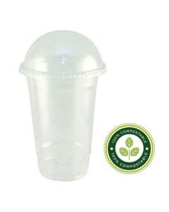 9oz PLA Smoothie Cups & Domed Lids