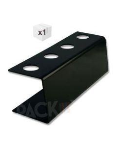 Black Plastic Ice Cream Cone Holder (4Holes)