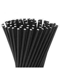 Black Paper Straws