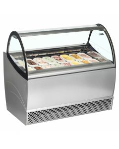 ISA Ventilated Scoop Ice Cream Display 12 Pan
