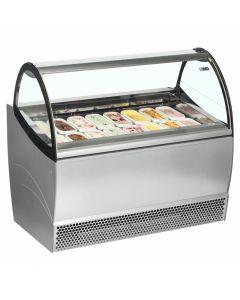 Ice Cream Scooping Cabinet with ice cream