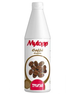 Coffee flavour topping sauce bottle