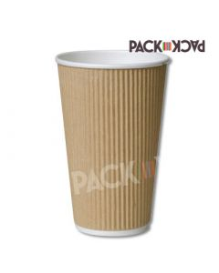 16 oz Kraft Ripple Cups for hot drinks