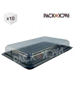 Large sandwich platters with clear top