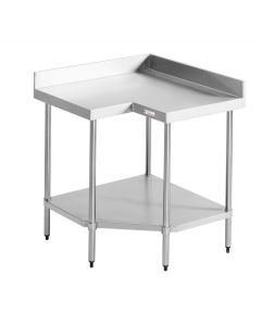 04 Corner Bench with Splashback 900/900 W x 600 D x 900 H mm (23kg)