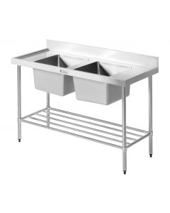06 Double Sink Bench 2400 W x 600 D x 900 H (51KG)