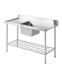 08 Dishwasher Inlet Bench Left Hand Feed 1650 W x 600 D x 900 H mm (34KG)