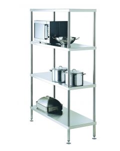 17 Adjustable 4 Tier Shelving 1500 W x 525 D x 1800 H mm (48KG)
