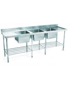 24 Triple Bowl Sink Bench 2400 W x 600 D x 900 H mm (54KG)