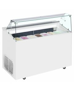 Scoop Ice Cream Display White - 7 Pan - TOP7E