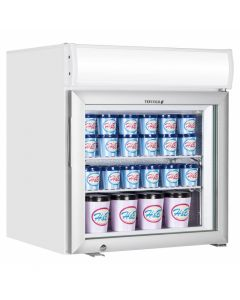 Glass Door Display Freezer White & Canopy - UF50GCP-P