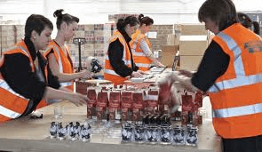 Packaging staff